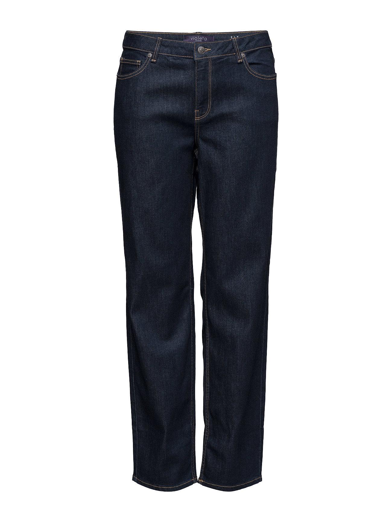 Relaxed Ely Jeans Violeta by Mango Jeans til Kvinder i Open Blå