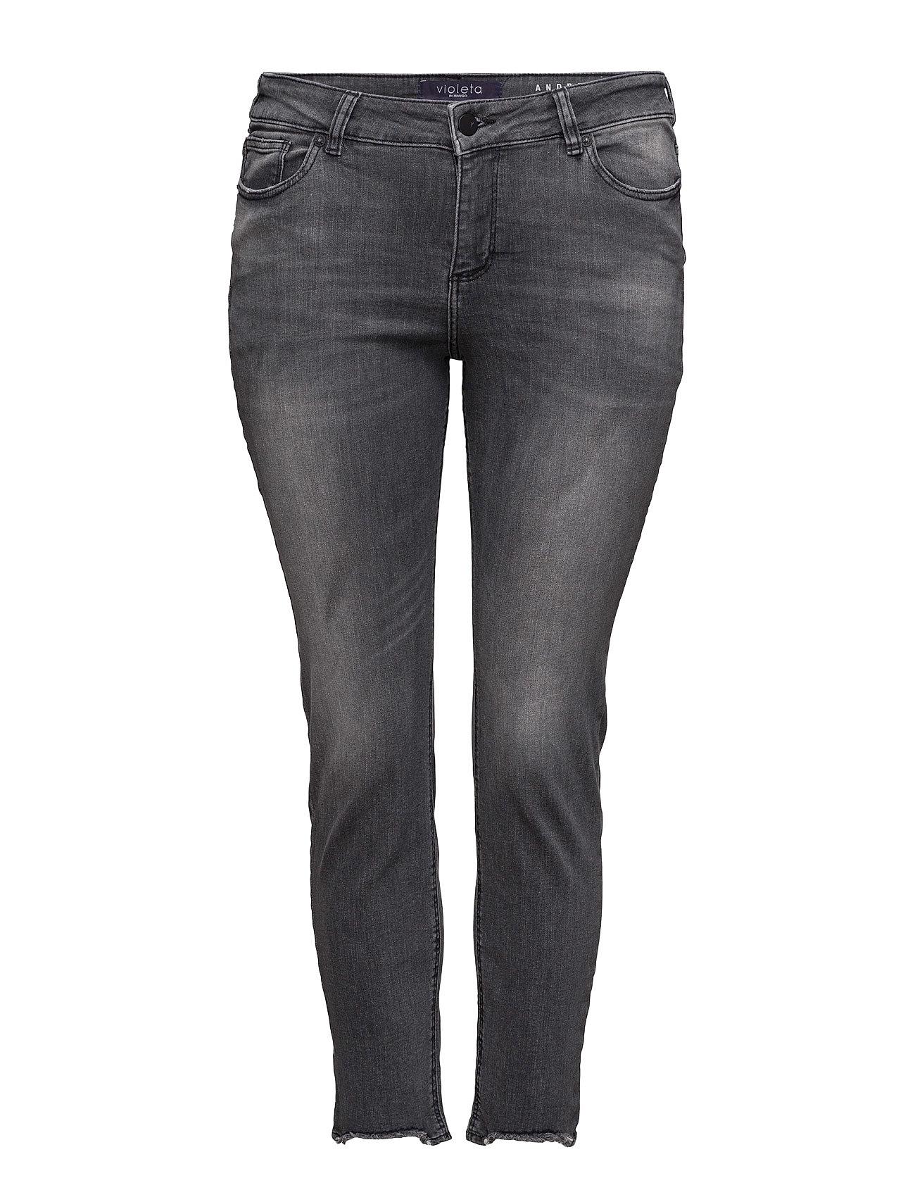 Super Slim-Fit Andrea Jeans Violeta by Mango Jeans til Kvinder i Open Grey