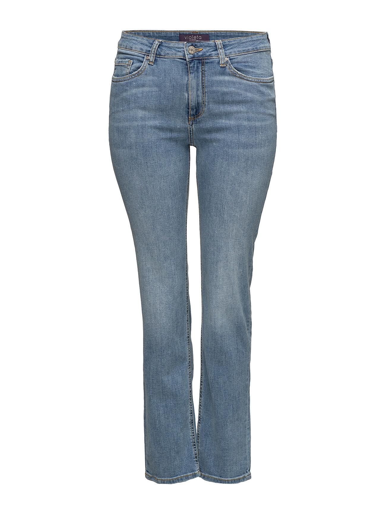 Straight-Fit Theresa Jeans Violeta by Mango Jeans til Kvinder i Open Blå