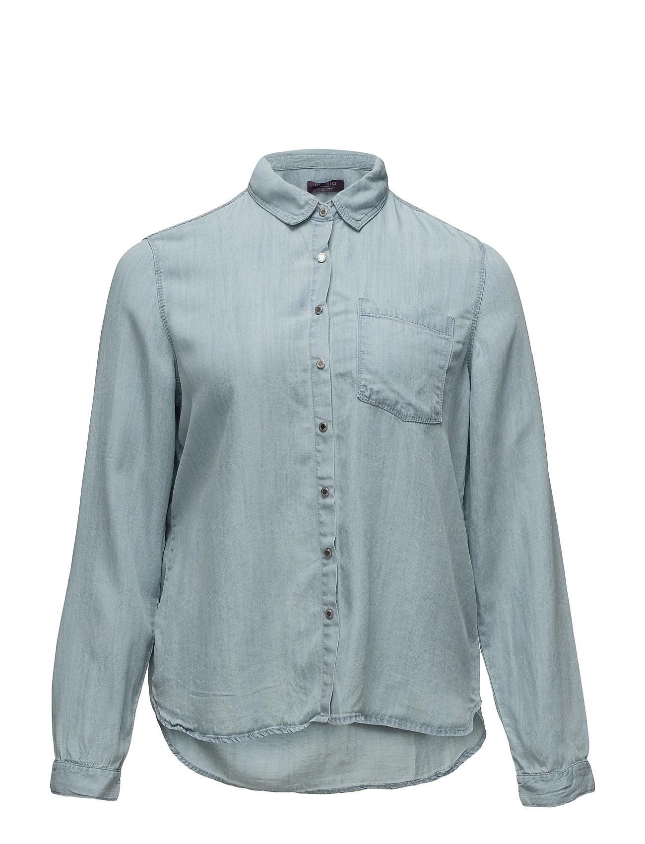 Bleached Wash Denim Shirt Violeta by Mango Langærmede til Damer i