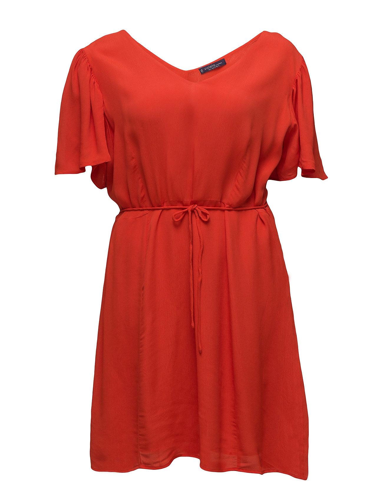 V-Neckline Dress Violeta by Mango Korte kjoler til Damer i orange