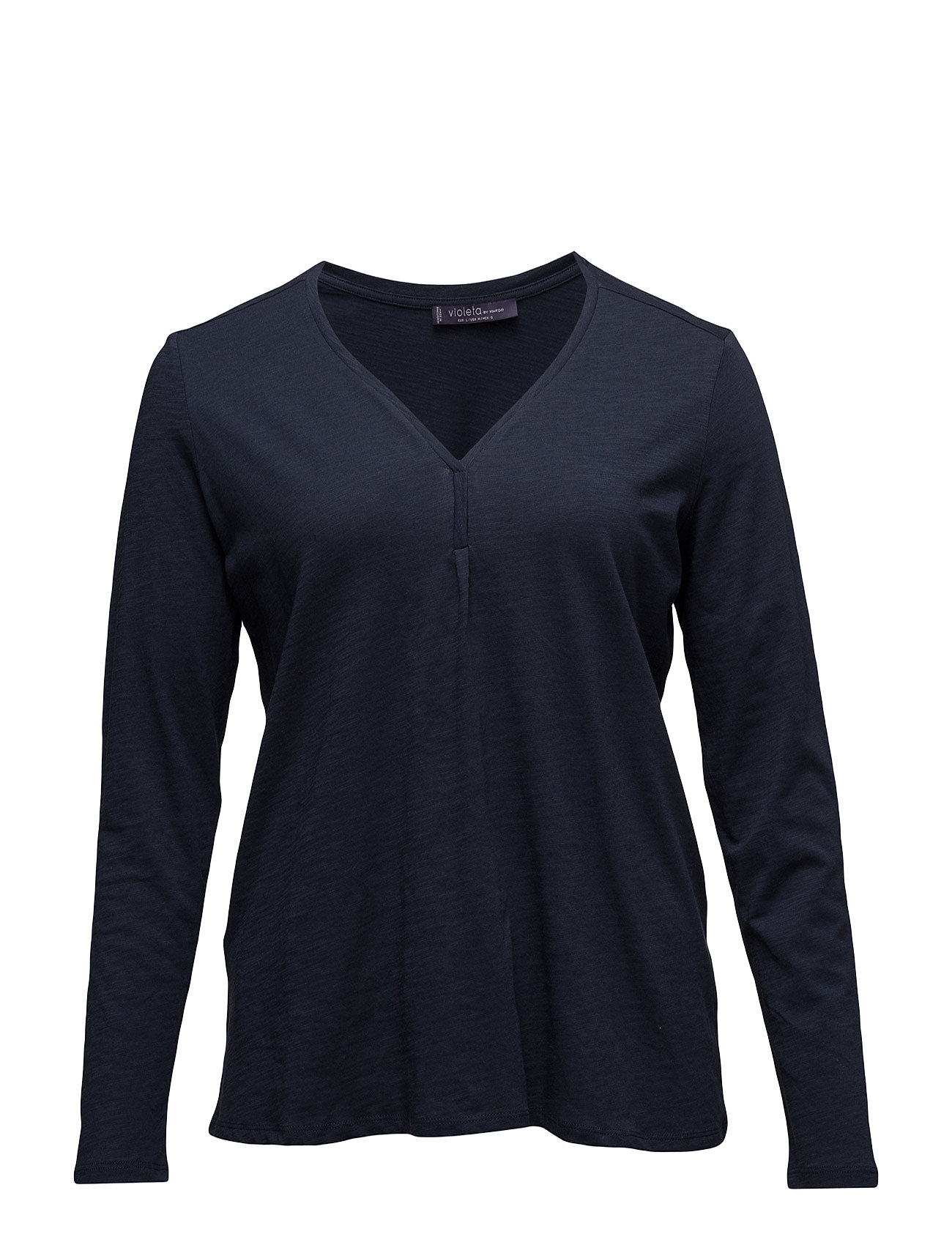 Essential Cotton T-Shirt Violeta by Mango Langærmede til Damer i