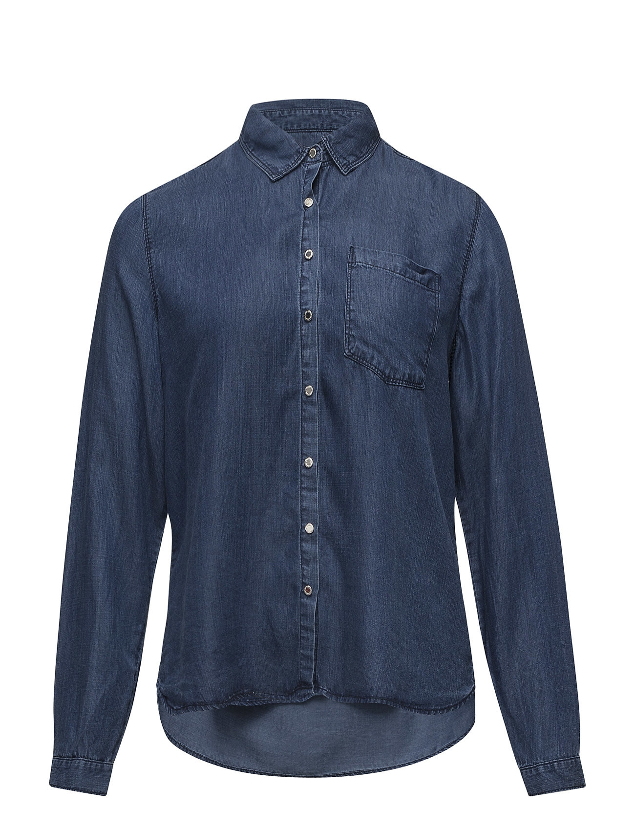 Medium Denim Shirt Violeta by Mango Langærmede til Damer i Open Blå