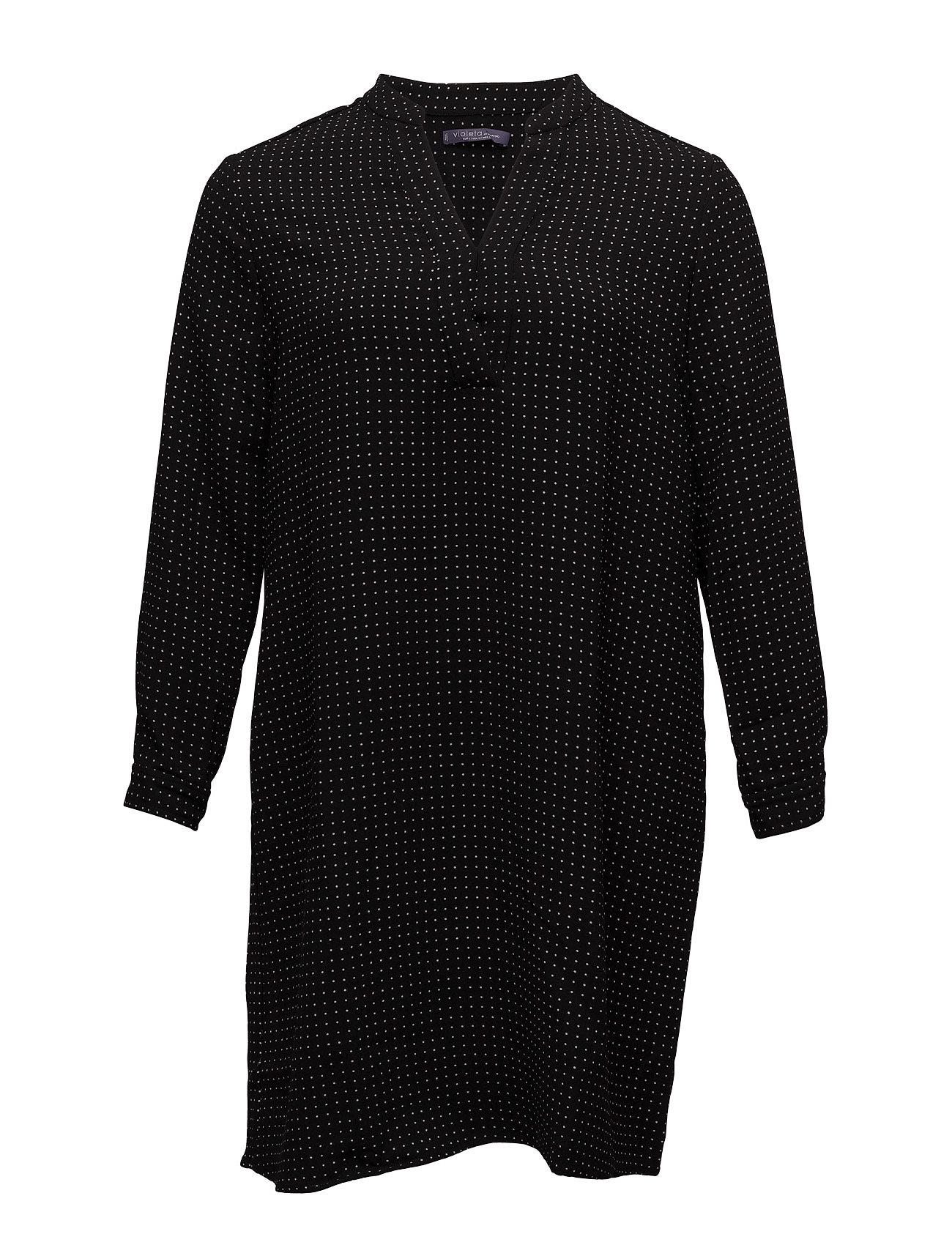 Printed Shirt Dress Violeta by Mango Korte kjoler til Damer i Sort