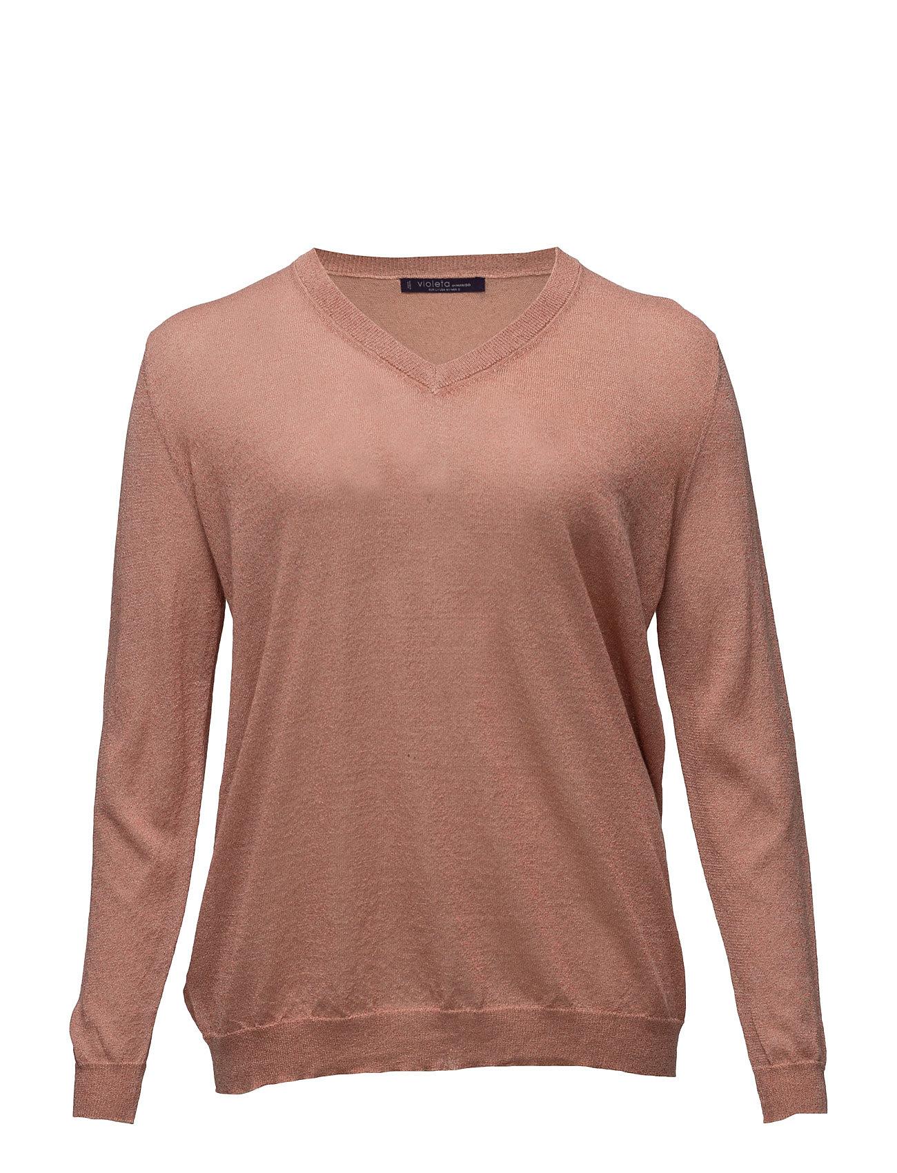 Fine-Knit Metallic Sweater