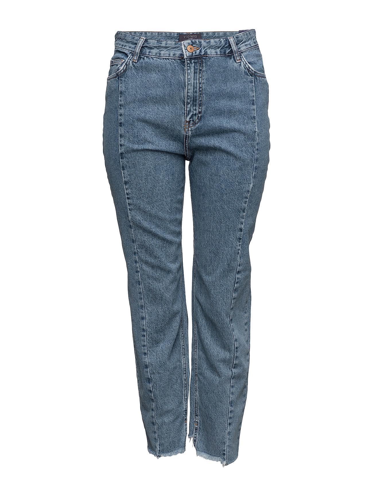 Mom-Fit Desi Jeans Violeta by Mango Bukser til Kvinder i Open Blå