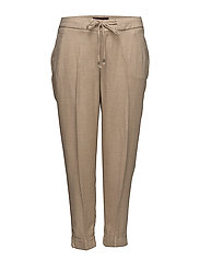 Textured baggy trousers - LIGHT BEIGE