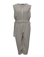 Striped jumpsuit - NATURAL WHITE