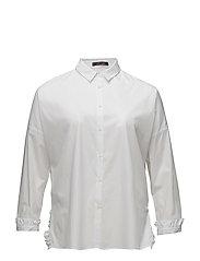 Ruffled cotton shirt - WHITE