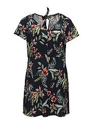 Floral print dress - NAVY