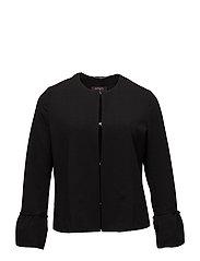 Ruffled sleeve jacket - BLACK