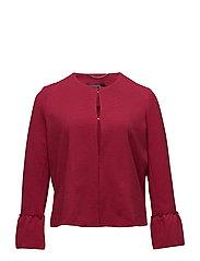 Ruffled sleeve jacket - MEDIUM RED
