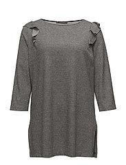 Ruffles micro print sweatshirt - MEDIUM GREY
