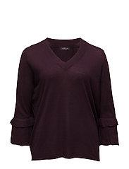 Flared sleeves sweater - DARK RED