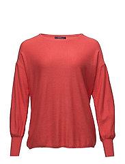 Puffed sleeves sweater - DARK ORANGE