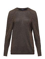 Metallic sweater - RUST - COPPER