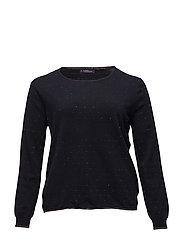Lurex details sweater - NAVY