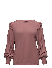 Ruffles puffed sleeve sweater - PINK