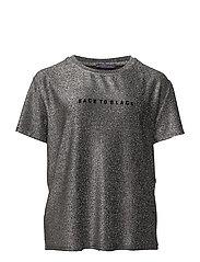Metallic message t-shirt - GREY
