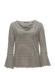 Striped cotton t-shirt - NATURAL WHITE