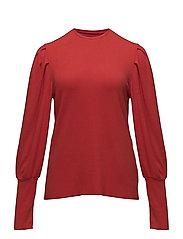 Pleated sleeves t-shirt - DARK ORANGE