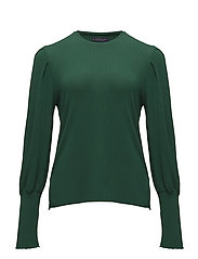 Pleated sleeves t-shirt - GREEN