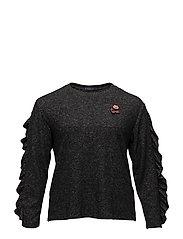 Ruffled sleeves sweatshirt - MEDIUM GREY