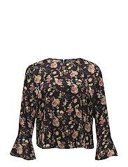 Floral print blouse - NAVY