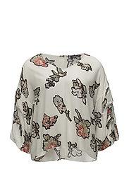 Floral print blouse - NATURAL WHITE