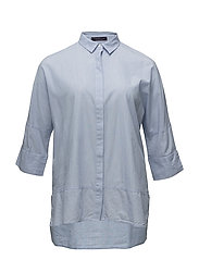 Contrasted buttons shirt - LT-PASTEL BLUE