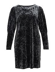 Flowy velvet dress - GREY