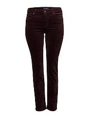 Slim-fit corduroy trousers - DARK RED