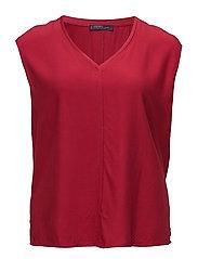 Decorative seam blouse - MEDIUM RED