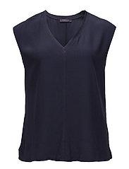 Decorative seam blouse - NAVY