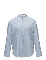 Chest-pocket cotton shirt - LT-PASTEL BLUE