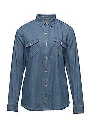 Medium wash denim shirt - OPEN BLUE
