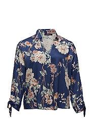 Floral bows blouse - MEDIUM BLUE