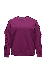 Ruffled sleeves sweatshirt - PURPLE