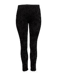 Velvet leggings - BLACK