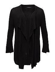Waterfall wool-blend cardigan - BLACK