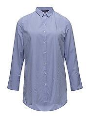 Buttoned flowy shirt - MEDIUM BLUE