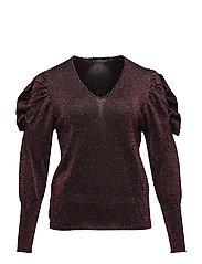 Ruffled metallic sweater - PINK