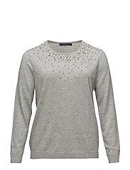 Pearls rhinestone sweater - LT PASTEL GREY