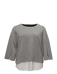 Shirt hem sweatshirt - MEDIUM GREY