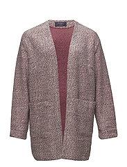 Pocket textured jacket - MEDIUM RED