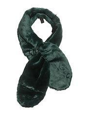 Faux fur scarf - GREEN