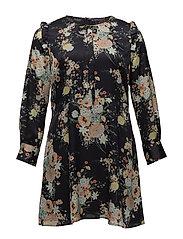 Floral pattern dress - NAVY