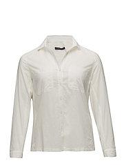 Ribbed panel shirt - NATURAL WHITE