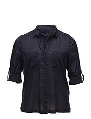 Ribbed panel shirt - NAVY