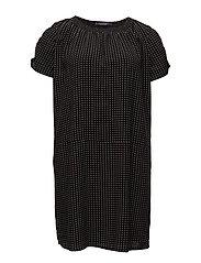 Star print dress - BLACK